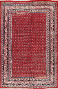 Vintage All-Over Red Botemir Persian Area Rug Wool 7x10