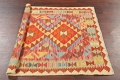 Pastel Geometric Kilim Turkish Rug 3x3 Square image 9