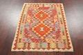 Pastel Geometric Kilim Turkish Rug 3x3 Square image 8
