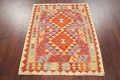 Pastel Geometric Kilim Turkish Rug 3x3 Square image 2