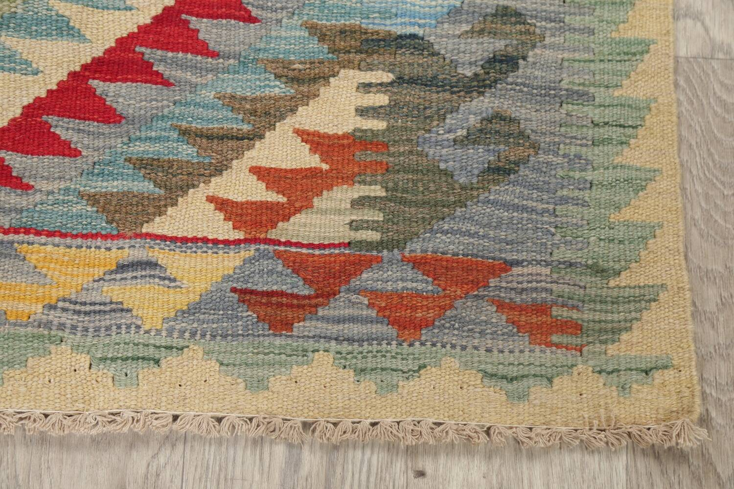 South-West Kilim Turkish Area Rug 3x3 Square image 4