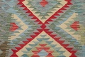 South-West Kilim Turkish Area Rug 3x3 Square image 3