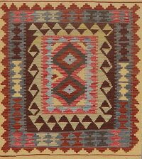 Flat-Woven South-Western Kilim Turkish Area Rug 3x4