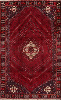 Geometric Red Shiraz Persian Area Rug 5x9