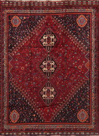 Antique Tribal Red Lori Persian Area Rug 6x8