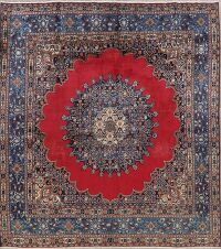 Vintage Geometric Mood Persian Area Rug 7x7 Square