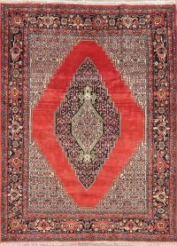 Geometric Red Bidjar Persian Area Rug 6x7