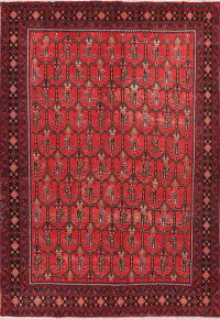Vintage All-Over Red Bakhtiari Persian Area Rug 7x10