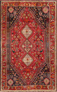 Geometric Red Abadeh Nafar Persian Area Rug 6x9