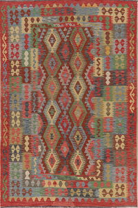 Pastel South-West Geometric Kilim Turkish Area Rug 6x10