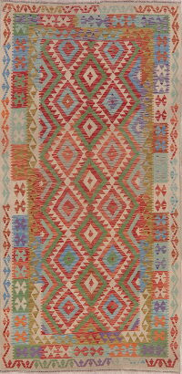 South-West Geometric Kilim Turkish Area Rug 5x8