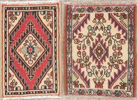 Set of 2 Vintage Hamedan Persian Rugs 1x2