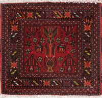 Geometric Balouch Persian Rug 2x2 Square