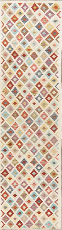 Geometric Kilim Turkish Oriental Runner Rug 3x10