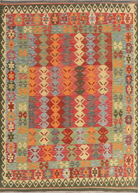 Flat-Woven Kilim Turkish Area Rug 6x8