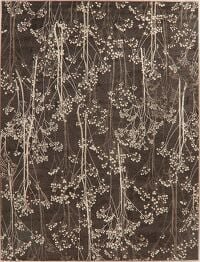 Brown Trees Design Modern Oriental Area Rugs