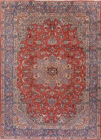 Floral Red Isfahan Persian Area Rug 9x13