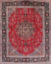 Floral Red Mashad Persian Area Rug 10x12