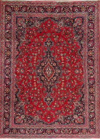Floral Red Mashad Persian Area Rug 8x11