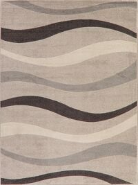 Contour Design Beige Modern Turkish Area Rug 8x11