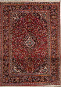Traditional Floral Red Kashan Persian Area Rug 7x10