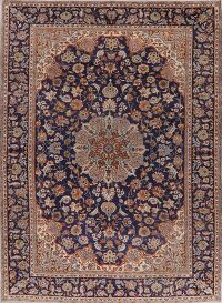 Vintage Floral Najafabad Persian Area Rug 9x13