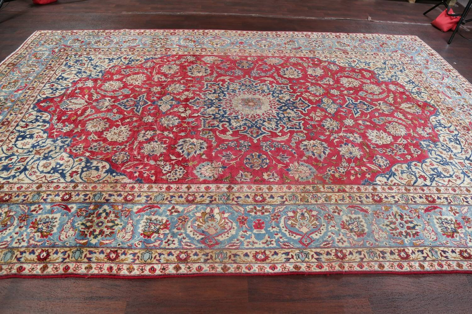 Floral Red Najafabad Persian Area Rug 8x13 image 19