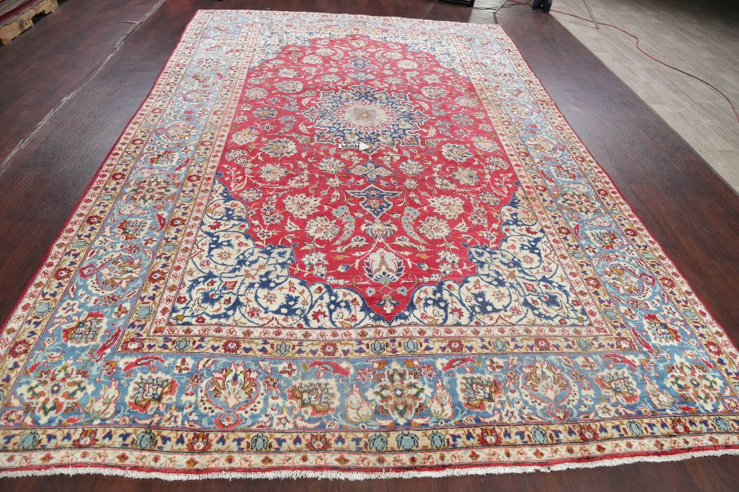 Floral Red Najafabad Persian Area Rug 8x13 image 14