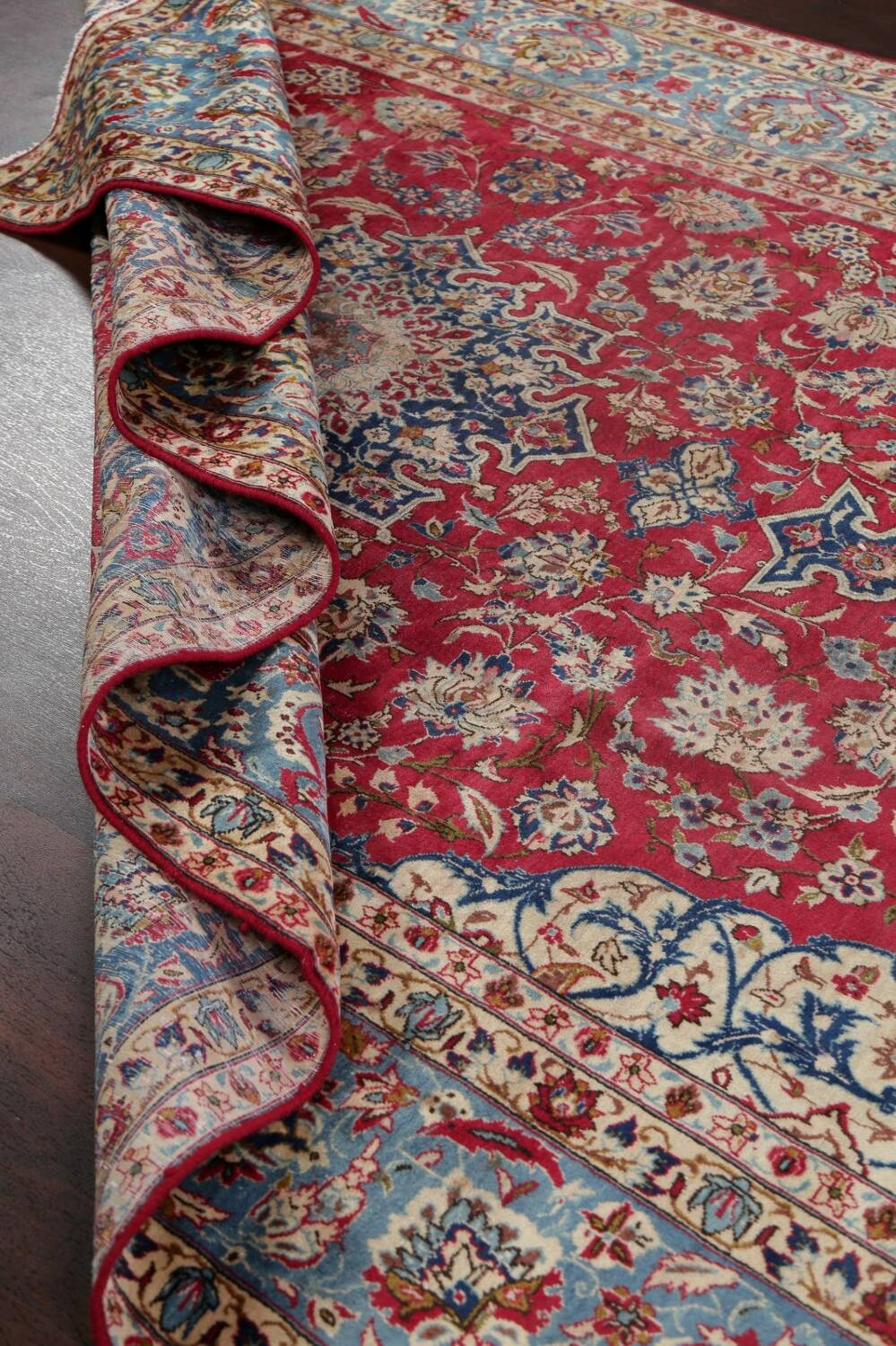 Floral Red Najafabad Persian Area Rug 8x13 image 22