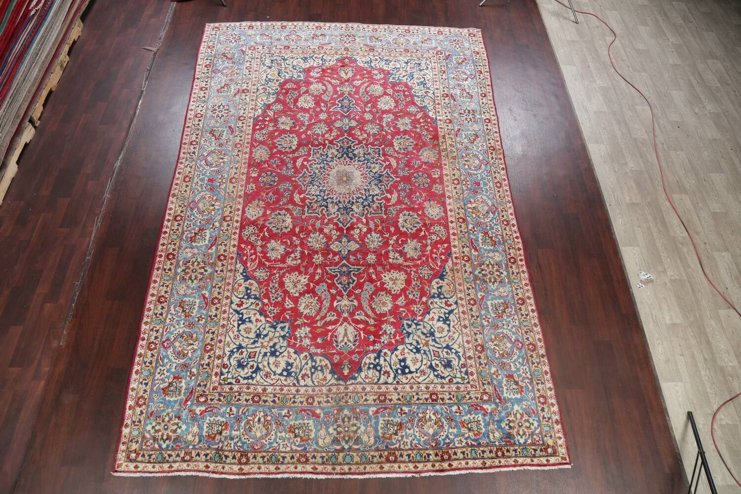 Floral Red Najafabad Persian Area Rug 8x13 image 2