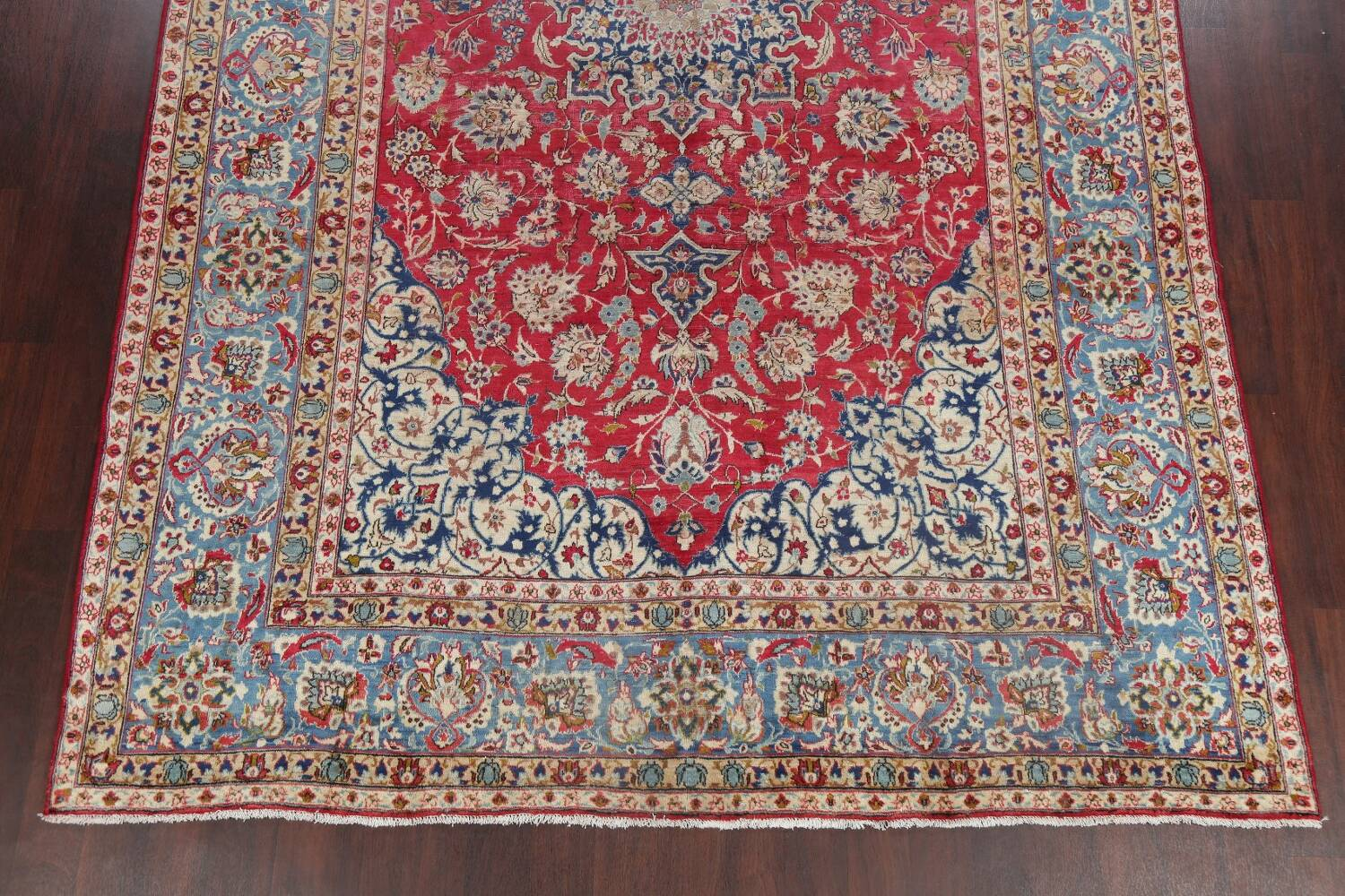 Floral Red Najafabad Persian Area Rug 8x13 image 8