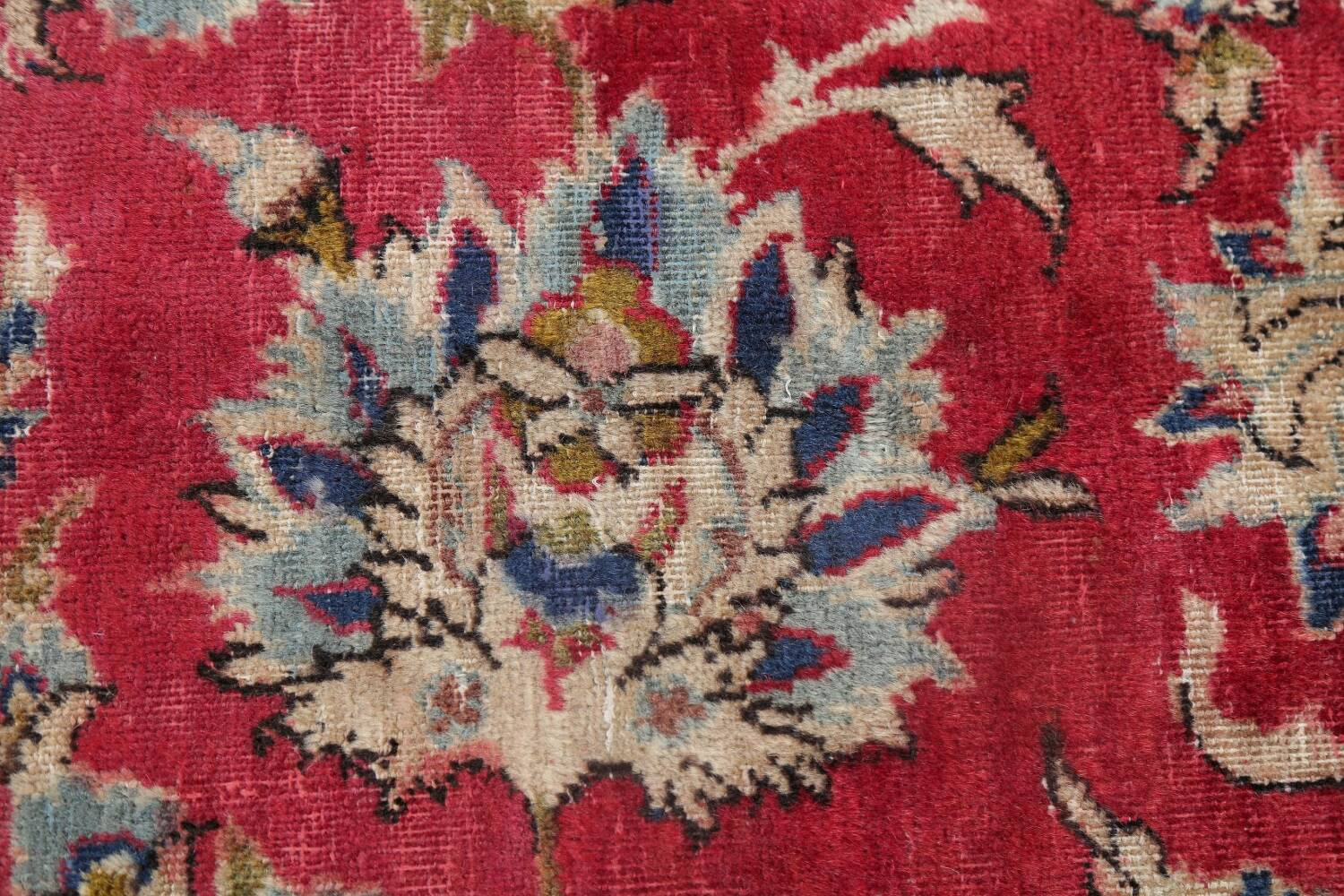 Floral Red Najafabad Persian Area Rug 8x13 image 10