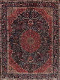 Antique Vegetable Dye Khoy Tabriz Persian Area Rug 10x13