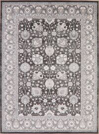 Black Floral Modern Turkish Area Rug 8x11