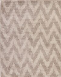 Brown Chevron Design Modern Turkish Area Rug 8x10
