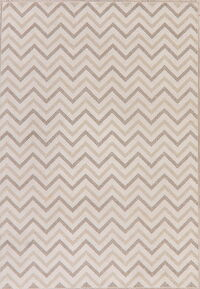 Modern All-Over Ivory Turkish Area Rug 7x10