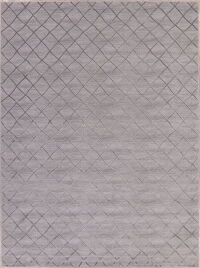 Grey Geometric Modern Turkish Area Rug 8x11