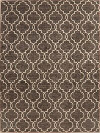 Brown Geometric Modern Turkish Area Rug 8x11