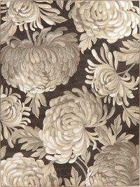 Brown Floral Modern Turkish Area Rug 8x11