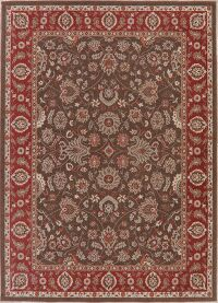 Traditional Style Brown Oushak Turkish Area Rug 7x10