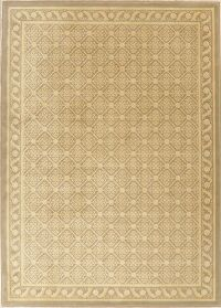 Green & Gold Victorian Style Turkish Area Rug 7x10
