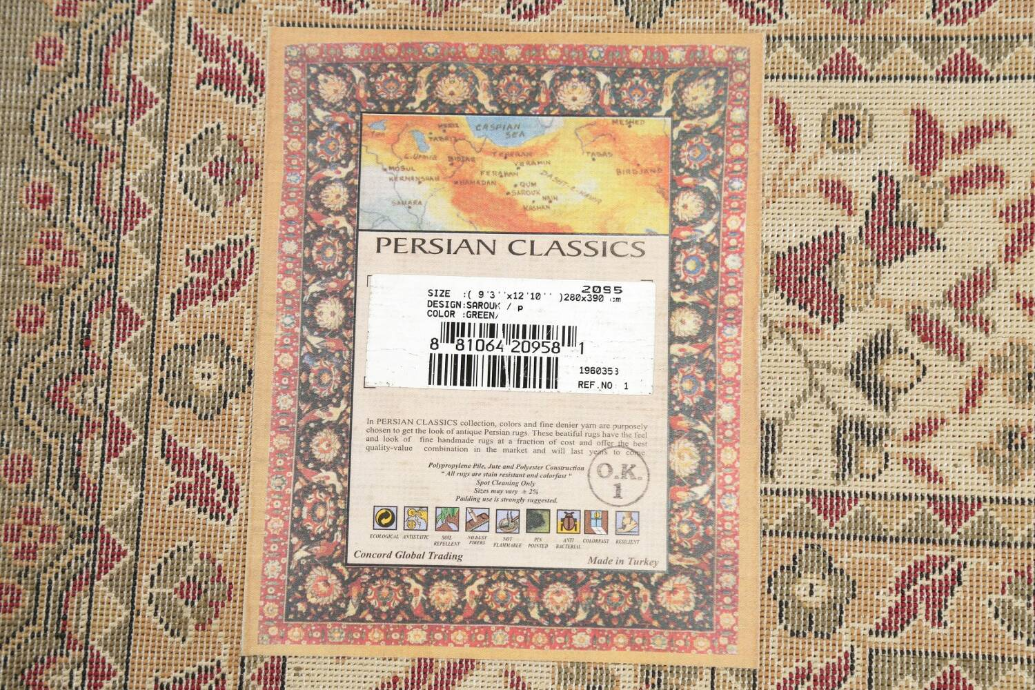 All-Over Floral Agra Turkish Area Rugs image 18
