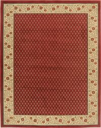 All-Over Red Modern Turkish Oriental Area Rug 8x10