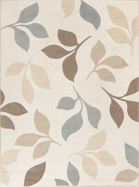 Nature Print Ivory Modern Turkish Area Rug 8x11