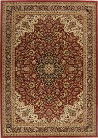 Traditional Floral Red Oushak Turkish Area Rug 8x11