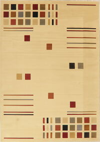 Beige Geometric Modern Turkish Area Rug 8x11