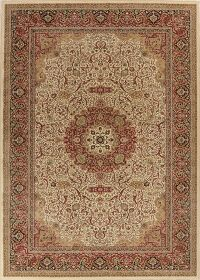 Beige Floral Kashmar Turkish Area Rug 8x11