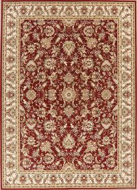 All-Over Floral Red Oushak Oriental Area Rug 8x11