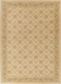 Victorian Style Beige Aubusson Turkish Area Rug 8x11