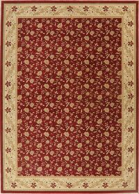 All-Over Floral Red Modern Oriental Area Rug 8x11